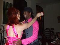 Dansen tijdens het optreden.