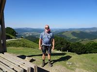 op de achtergrond, spanje. op le poedre, hoogste bergpas in pyreneeén, lepoeder