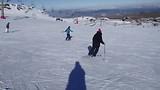 Marijke toch weer aan het skiën