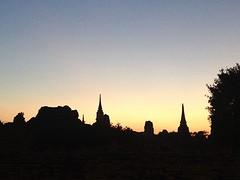 Silhouet van Ayutthaya