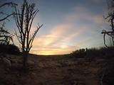 Zon onder in de Kleine Karoo