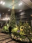 Kerst op het vliegveld van Singapore