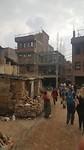 Huizen verwoest door aardbeving