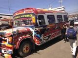 De busjes in Cochabamba