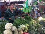 Groentevrouwtje op de markt