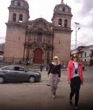 Cusco voor één van de vele kerken