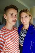 Met broertje