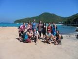 Beach with groupie