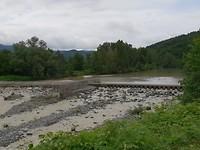 De rivier die we dagelijks oversteken.