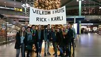 Schiphol - welkomstcomité