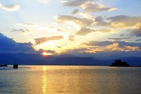 Nafplio, mooie zonsondergang