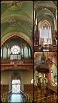Dudelange, prachtige kleuren in de kerk