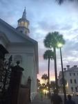 Ondergaande zon in Charleston