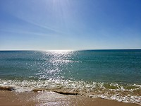 Het strand van Ilha de Tavira