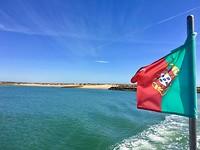 Op de ferry naar Ilha de Tavira