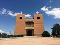 Sacred Heart Church in het dorpje Pojoaque
