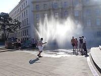 Ook in Wenen is het warm.