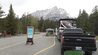 Aankomst Tunnel mountain campground Banff