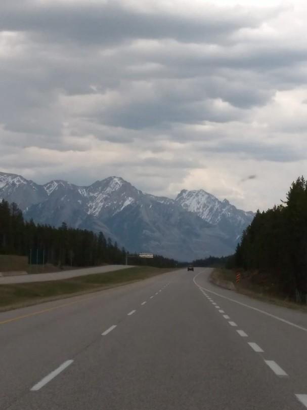 10 km voor Banff