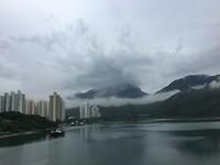 Hongkong - Regen voor vertrek