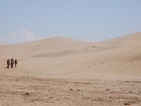 Zandduinen in Dunhuang.
