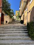 De nachtmerrie van de pelgrim: veel trappen