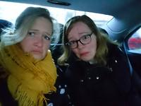 In de taxi... Gemengde gevoelens