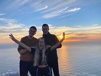 Guus, Laura en ik op Lions Head