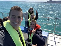 Selfie op de boot in Hermanus