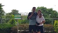 Hoogste 'berg' in Singapore opgefietst