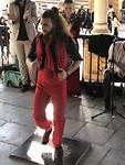 Flamenco onder de bogen van Place d'Espagna