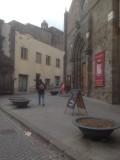Het plein in de buurt van het Hotel
