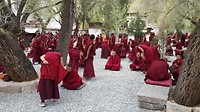 debatterende monniken