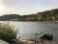 De Rijn in Boppard in de buurt van de Lorelei