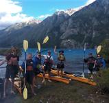 Kajak Lago Epuyén, we maken ons klaar voor het laatste stuk!