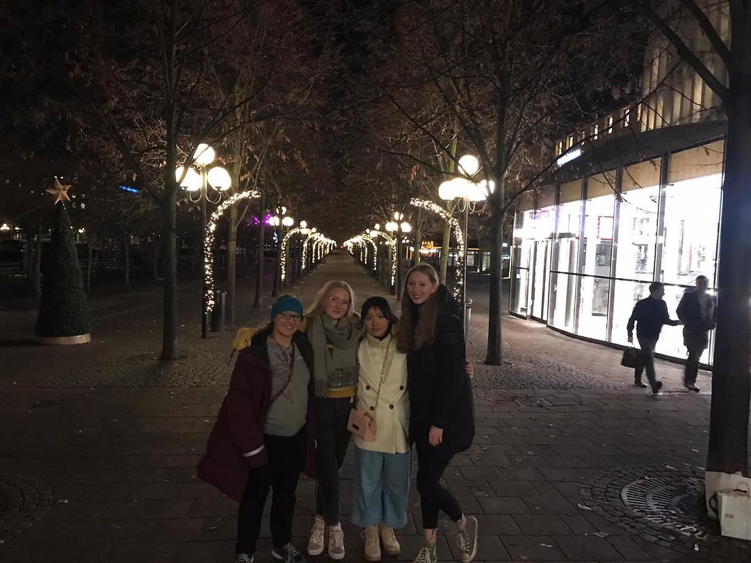 Katelyn, Veera, Alice en ik