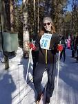 Skiwedstrijd in het dorp