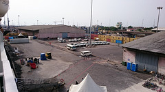 Dock terrein voor het schip