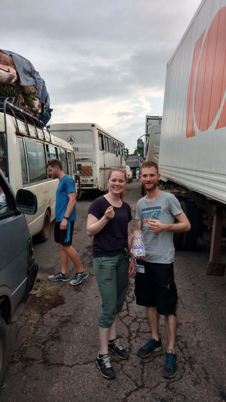 Ekom waterfalls trip: two hour traffic jam