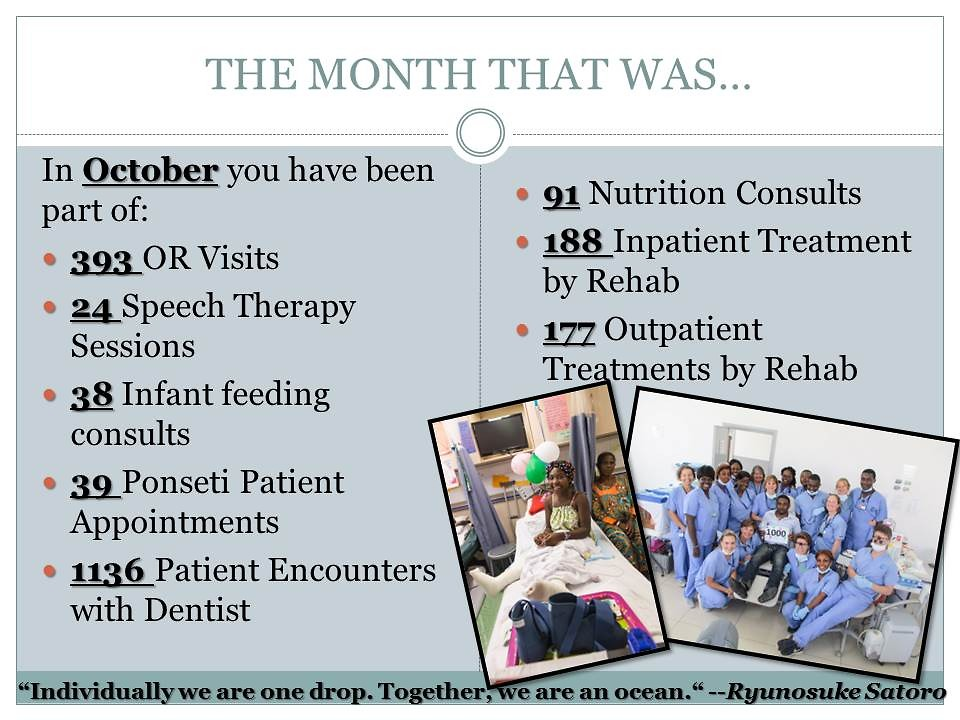 The month of October, slide 1