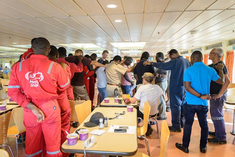 Engineering Crew Praying