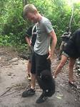 Ruben playing with Chimpanzee 2