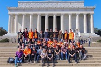 Groepsfoto Lincoln Memorial - Team Rembrandts