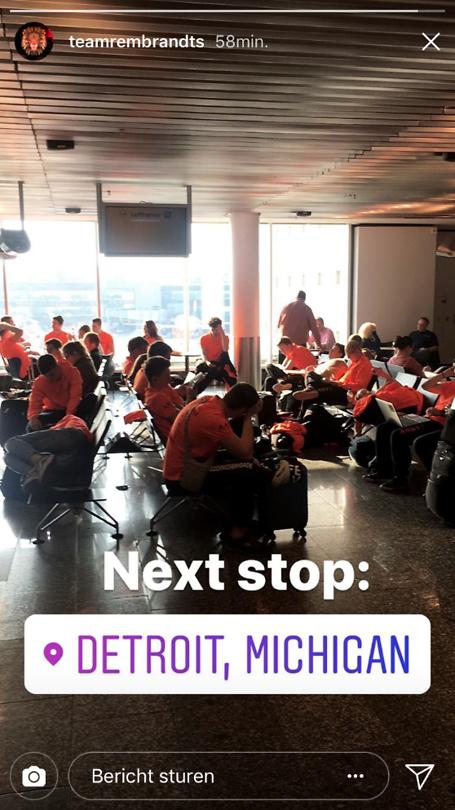 Wachten op Flughafen Frankfurt