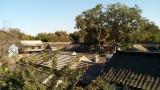 Vanop het dakterras van het huis in beijing