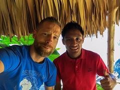 Met Francisco, mijn leraar