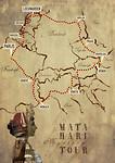 Route kaart Mata Hari reis
