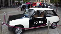 Oude Renault 5 politieauto