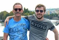 Peter en Stefan op de Karls brug