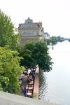 De mooie gevel van het Bedrich Smetana museum